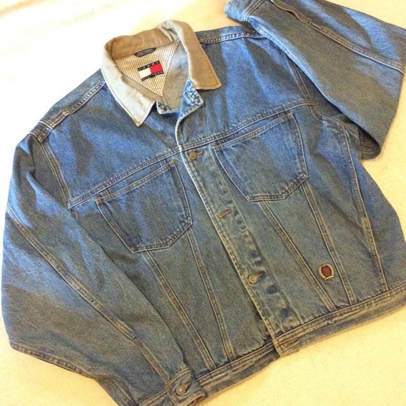 ff3938285 Men's Vintage Tommy Hilfiger Denim Jacket
